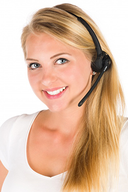 Customer Assistant With Headset